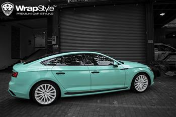 Audi A5 Sport - Wrapping mint blue