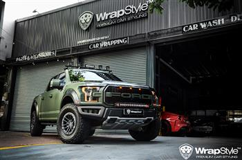 Ford F150 | Wrapping Matte military green