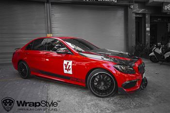 Mercedes C300 - Wrapping Caminal Red Avery